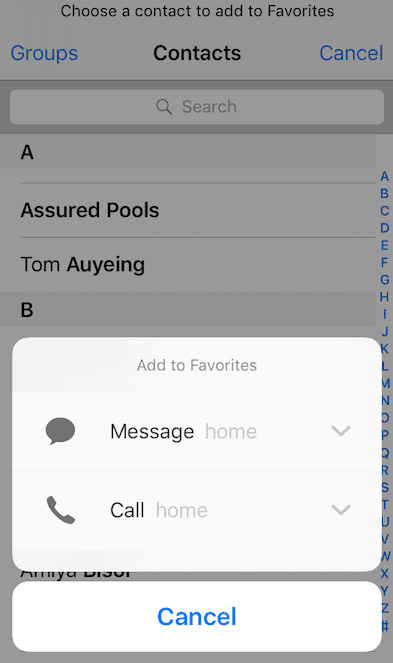 iPhone Contacts Tips