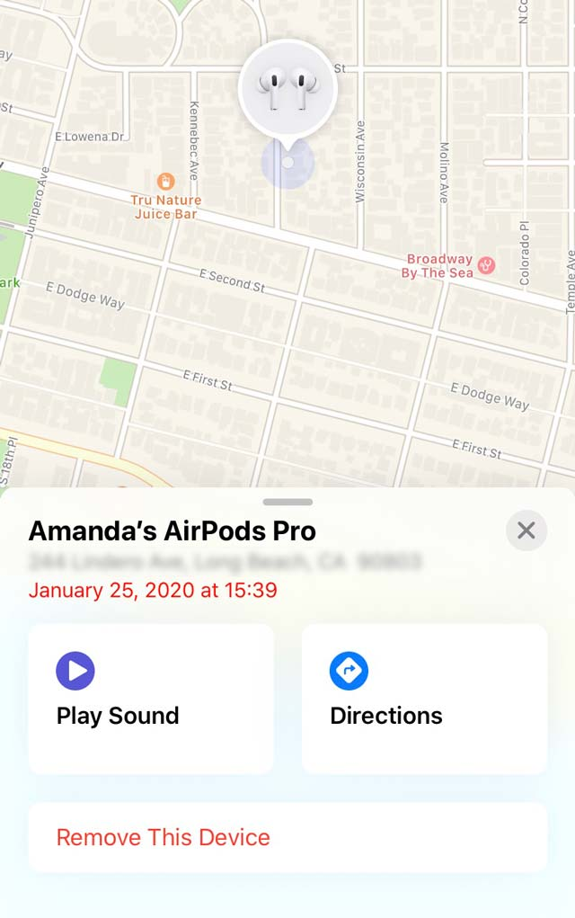 play sound or get directions to missing or lost Apple AirPods