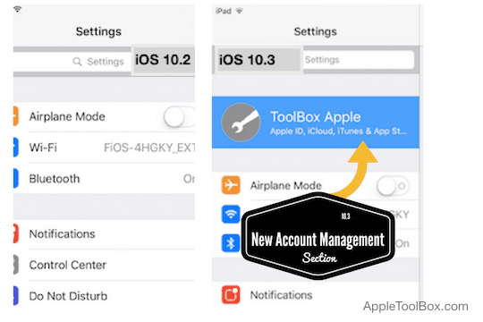 manage your Apple ID using iOS 10.3