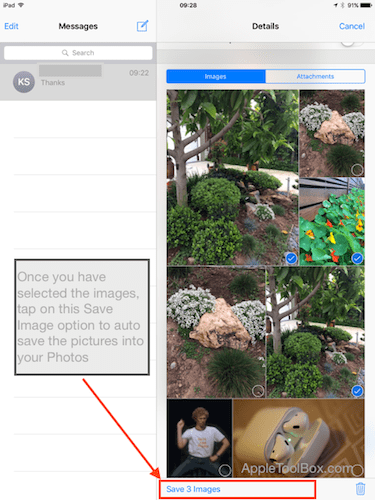 How-To Transfer iMessage images into photos