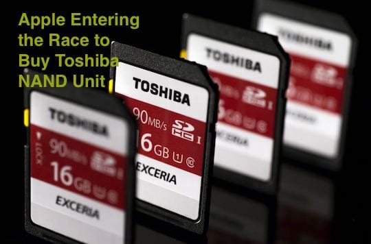 Apple Planning to buy Toshiba NAND unit