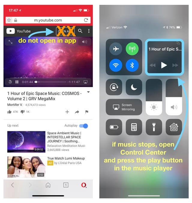 How to Play YouTube Videos in Background using iOS 10 & 11