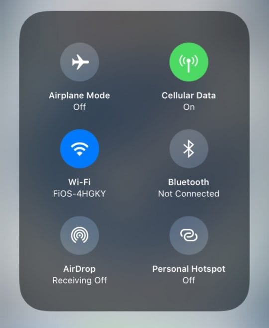 how to turn on airdrop on 6s