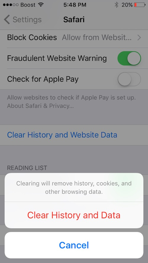 Get Rid of Pop-Up Scams on Safari