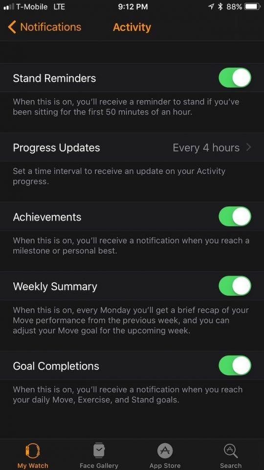 Apple Watch Specific Notifications
