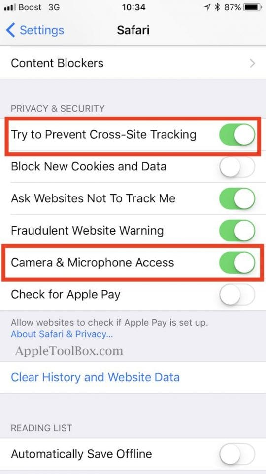 Customize Safari Privacy Settings, How-To