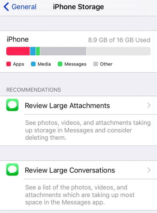 iphone storage full message free up iphone storage with ios 11 tools recommendations 15470