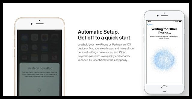 How to Use Automatic Setup in iOS 11