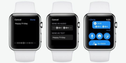 Using Voice with iMessage on Watch