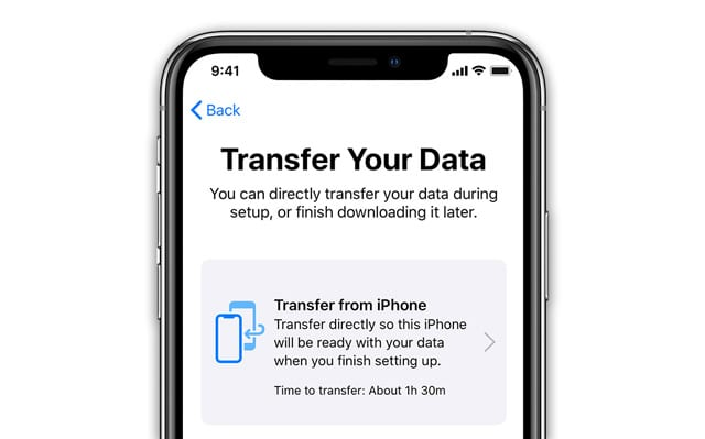 transfer your device's data without iCloud or iTunes to a new device iOS and iPadOS