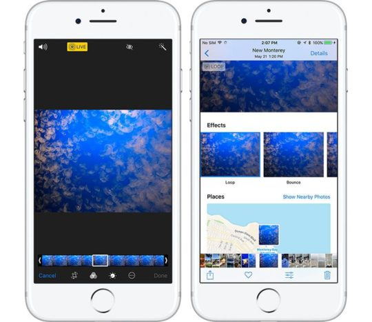 iOS 11 Live Photos New Effects