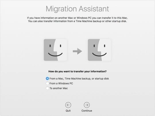 macOS Migration Utility