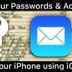 Find Passwords & iPhone's Email Mail Accounts in iOS 11