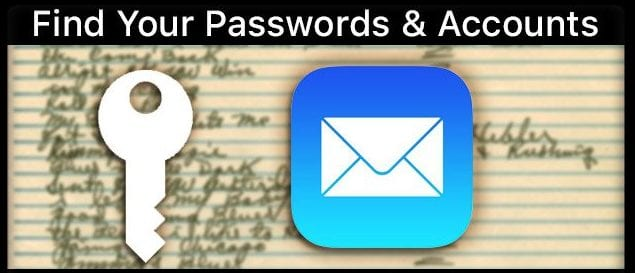 Find Passwords & iPhone's Email Mail Accounts in iOS11