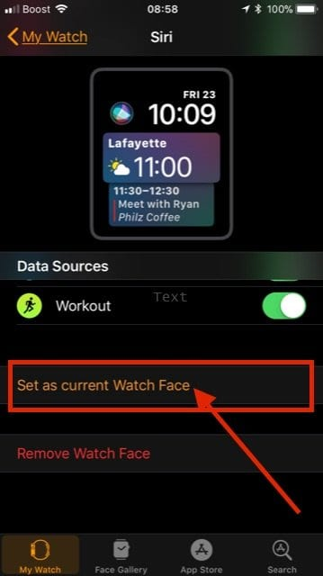 Adding and Customizing Siri Face on Apple Watch