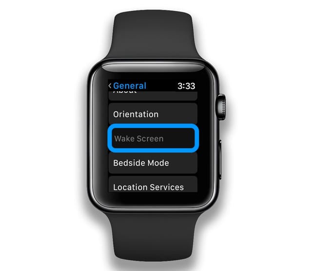 wake screen settings on apple watch