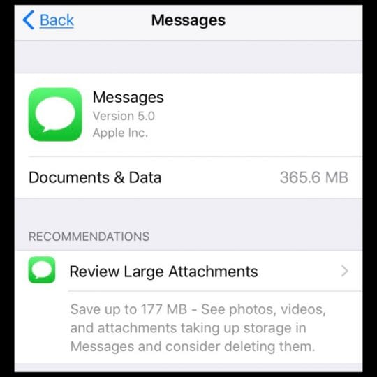 How-To Delete iPhone Messages Documents & Data With iOS11