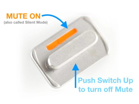 Silent Mute Side Switch on iPhone iPad or iPod Touch