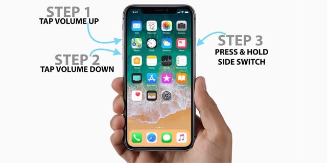 How to reset iphone x when its frozen on facetime