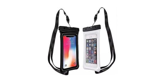 iPhone X Series in Waterproof pouch