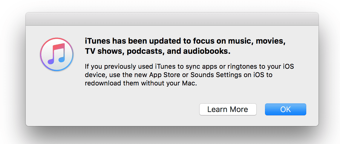 no tones folder in itunes 12.7