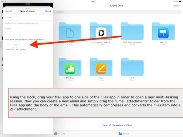 Attaching Zip Files in IOS Mail from Files App