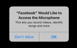 Facebook Access the Microphone iOS 11