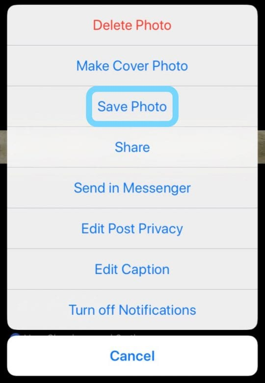 how to stop saving photos from messenger