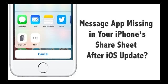 missing text messages iphone message app missing in your iphone s sheet after ios 3013