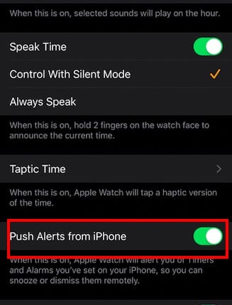 Apple Watch alarm not working with iOS 13 Fix