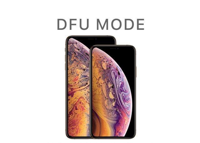 iPhone X Series phones DFU Mode