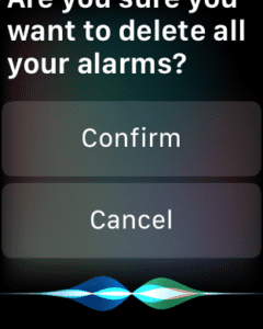 Delete all alarms on Apple watch