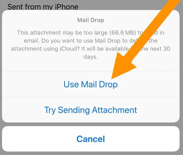 use Mail Drop to send large files via the Mail app and iCloud