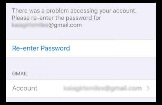 How to access gmail password on iphone