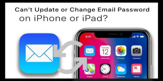 how to update email password on iphone can t update or change email password on iphone or 1701