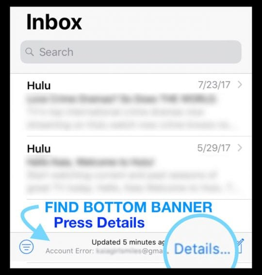 change email password on iphone
