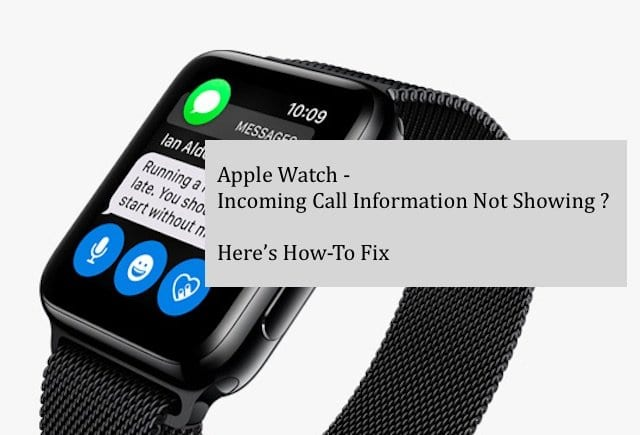 Apple Watch Does Not Show Incoming Information