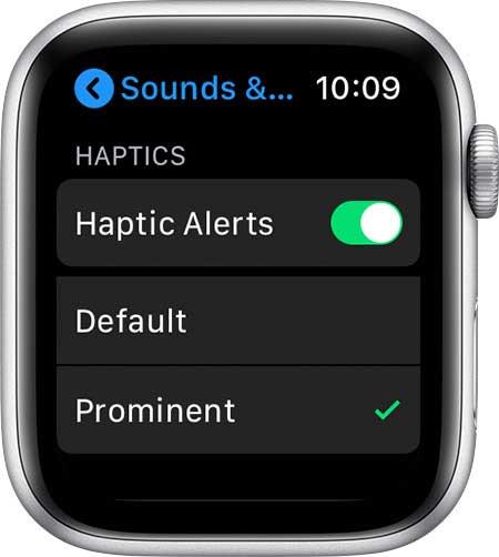 haptic alerts on apple watch