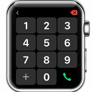 keypad on apple watch for phone app