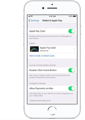 Setting up Apple Pay Cash