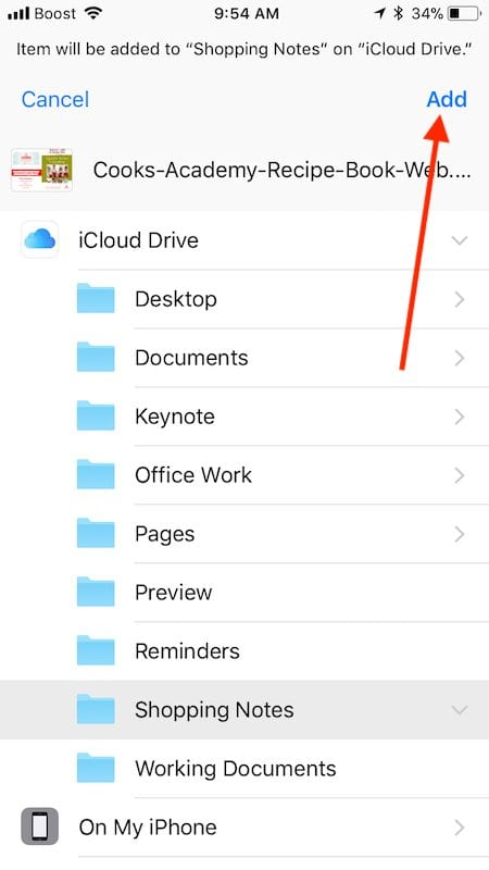How to Download webpages into Files App on iPhone