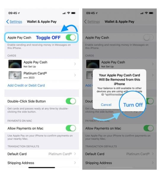 Turn Off Apple Pay Cash in Apple Wallet and Apple Pay iPhone
