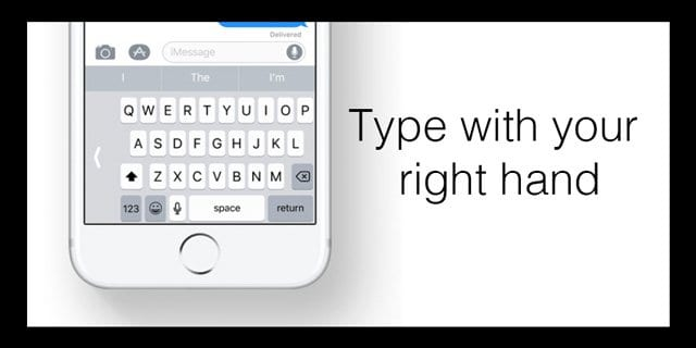 how to change to one handed keyboard