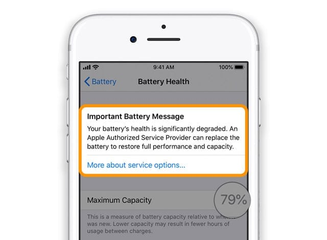 important battery message iPhone