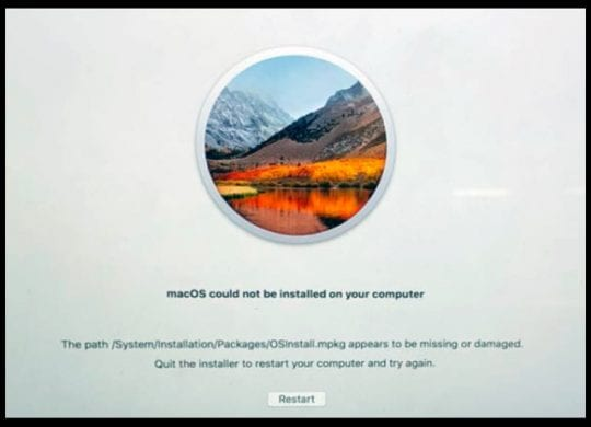 macOS Could Not Be Installed, How-To Fix