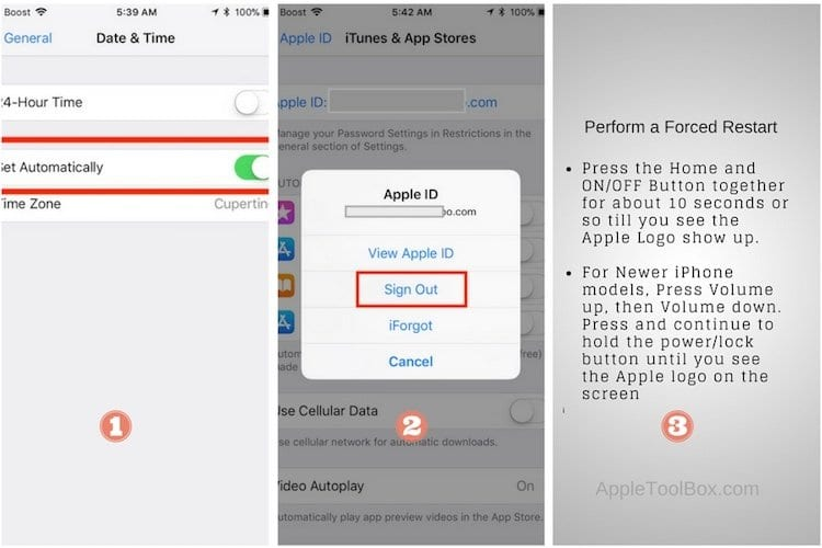 Error Connecting Apple ID, Verification Failed. How-To Fix