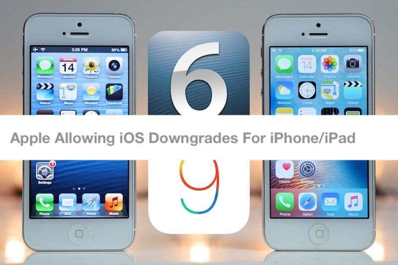 Apple allowing iOS Downgrades for Your Older iPhone and