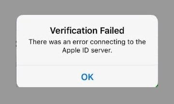 Error Connecting Apple ID, Verification Failed  How-To Fix