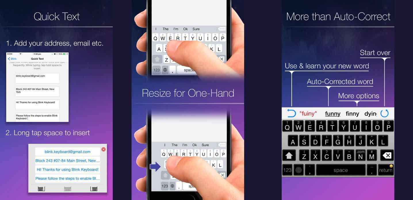 Blink Keyboard for iPhone