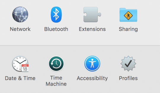 accessibility in system preferences on mac